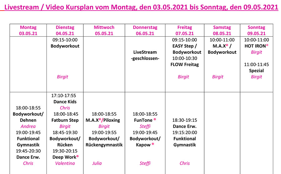 KursplanLiveStream-Montag-03-05-09-05-2021